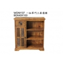 y12041 傢俱系列-印度傢俱-一抽單門三層邊櫃