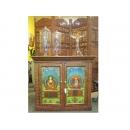 y12041 傢俱系列-印度傢俱-彩繪雙門櫃