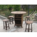 y12051 杉木 桌椅組系列