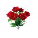 y12059 花藝設計-精緻人造花-牡丹花束-6頭-紅/束 (粉)