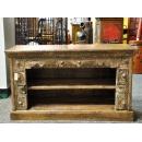 y12071 傢俱系列-印度傢俱-邊雕二層小櫃