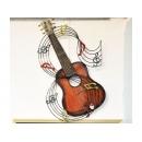 y12088 鐵材藝術(立體壁飾)- 鐵藝吉他音符壁飾