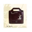 y12121 比得兔系列-咖色鱷魚皮革系列-咖色鱷魚紋中型置物盒/抽屜