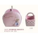 y12125 比得兔系列-珠光格菱紋系列-皮革置物盒/格菱紋粉色