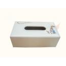 y12127 比得兔系列-鱷魚皮革系列-白色刺繡面紙盒