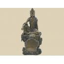 y12142 中式人物-觀音坐心經石碑擺飾