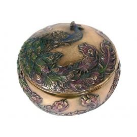 開運聚寶盆(盒)系列-孔雀鳥y12162 立體雕塑.擺飾 立體擺飾系列-器皿、花器系列
