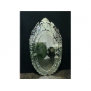 花雕圓形鏡 y12185 時鐘.溫度計.鏡子 鏡子Art Nouveau系列之二(補貨中)