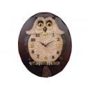 貓頭鷹智慧鳥 y12181 時鐘.溫度計.鏡子 溫度計.壁掛鐘