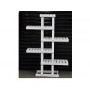 y12188 傢俱系列-酒櫃/書櫃/展示架-白色傢俱五層樹型置物架