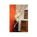 y12190 人造花藝-蘭花樹枝籐球造型花藝-造型花