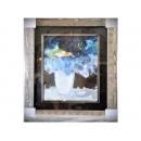 y12197裝框裱褙相框系列-裱框成品參考-木紋質感金箔框