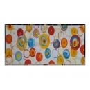 y12244-油畫-抽象-繽紛圓圈