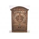 y12291 金屬工藝品 小天使信箱 紅金色 (另有墨綠色.古銅色可選購)#31