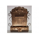 y12293 金屬工藝品 古典報桶信箱 古銅色 #43