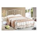 y12303 傢俱臥室 凱絲5尺白色雙人鐵床(不含床墊) (598-1)