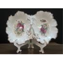 y12308玫瑰陶瓷兩格果盤