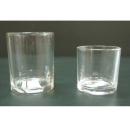 y12311_燭台蠟燭香氛-許願燭杯-透明直筒/一對