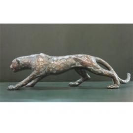y12315_銅雕動物-銅雕招財金錢豹CU-36-171(另有金色)*