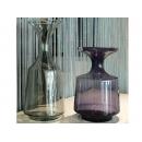 y12333_玻璃花器系列_(左)灰色透明玻璃、(右)紫色透明玻璃