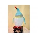 藝術玻璃-小企鵝燈 y12348  水晶飾品系列 桌燈小企鵝燈 水青色(黑色)(藍色)
