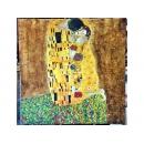 臨摹克林姆(Gustav Klimt)-y12434-油畫人物-吻