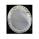 經典貝殼橢圓壁鏡掛鏡子 y12437 時鐘.溫度計.鏡子 鏡子(H7929)