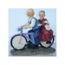 騎車阿公阿婆(中號) y12445 B04T036 立體雕塑.擺飾 立體擺飾系列-動物、人物系列