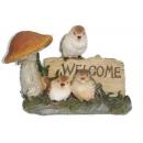 鳥兒Welcome擺飾 y12446 B03X343 立體雕塑.擺飾 立體擺飾系列-動物、人物系列