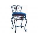y12484 鐵材-花邊復古化妝椅子 C01A0004