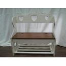 y12510 傢俱系列-實木傢俱-靠背穿鞋椅-白