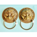 y12530 銅雕掛飾-大門環(一對) CU-119-013